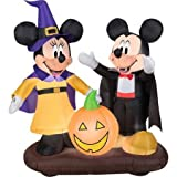 4.5 Tall Disney Mickey and Minnie Pumpkin Halloween Airblown Inflatable