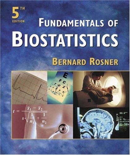 Fundamentals Of Biostatistics (with Data Disk)