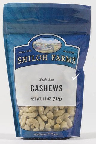 Shiloh Farms: Whole Raw Cashews 11 Oz (6 Pack)