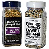 Trader Joes Everything but the Bagel Sesame Seasoning Blend and Trader 21 Seasoning Salute Blend bundle