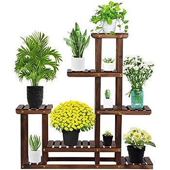 Amazon.com: Giantex Estantería para plantas con estantes de ...