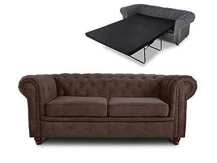 Schlafsofa Chesterfield Asti Bis 2 Sitzer Sofa Mit Schlaffunktion