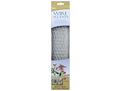 Amazon.com: Darice 6614-102 Galvanized Chicken Wire Net for ...