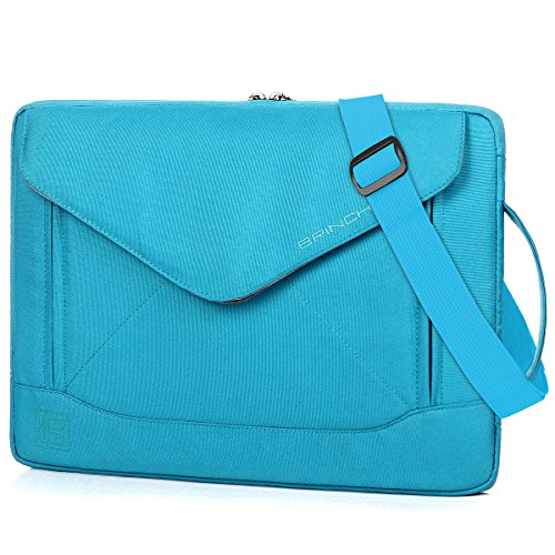 BRINCH 15.6 Inch Laptop Sleeve Case Protective Bag, Water Resistant Envelope Style Laptop Carrying Case with Handle for Women Compatible 13-15 Inch MacBook Pro/Notebook/Chromebook/Ultrabook, Blue