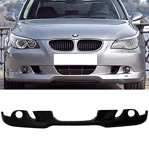 Front Acs Lip (Pre-painted Front Bumper Lip Fits 2004-2007 BMW E60 5-Series | AC-S Style Painted Black Sapphire Metallic #475 PU Finisher Chin Spoiler Add On other color available by IKON MOTORSPORTS | 2005 2006)