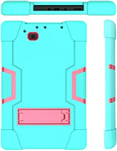 Cherrry for RCA 10 Viking Pro RCt6a03w13 10.1 Inch Case,Heavy Duty Shockproof Rugged Impact Resistant Hybrid Three Layer Full Body Protective Case Cover for RCA 10 Viking Pro 10.1 Inch (Green/Pink)