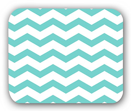 Chevron Teal White Anti-Slip Mouse Pad Mat Mice Mousepad Desktop Mouse pad laptop Mouse pad Gaming Mouse pad by INFOPOSUSA