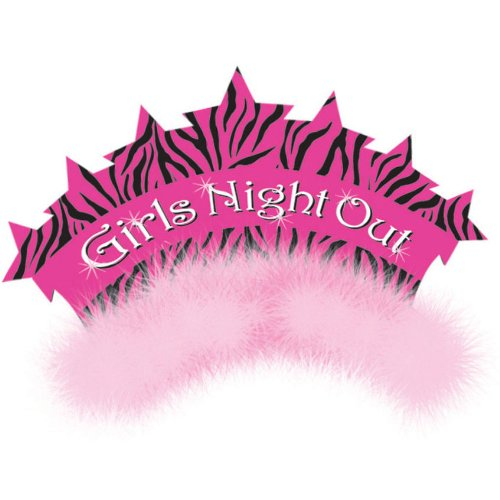Creative Converting Bachelorette Party/Girls Night Out Tiara with Marabou