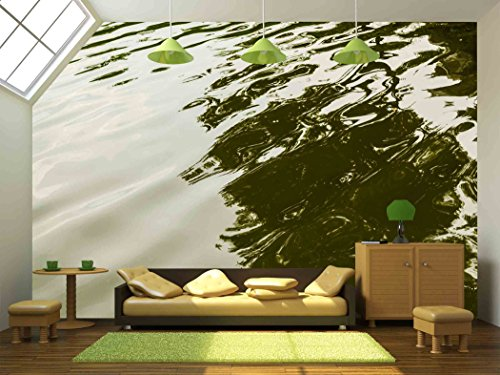 Wall26   Wave In The Lake Close Up   Removable Wall Mural | Self Adhesive  Large Wallpaper   100x144 Inches