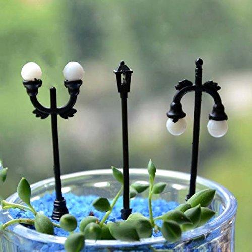 Garden Landscaping & Decking - Street Baseplates Lionel Lamps - Micro Landscape Decorations Mini Street Lamp Garden Landscaping - American Plastics Children'S Garden Set - (Stella Bar Table)