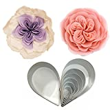 rose leaf cookie cutter - Cake Decorating Gumpaste Flowers Austin Rose Cutter Set Fondant Decor Kit Sugarcraft Modelling Tools for Cake Cupcake Decorating Stainless Steel