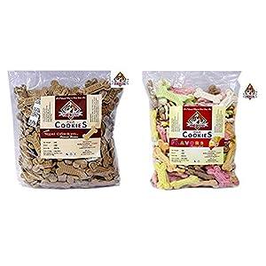 Nootie Combo of Chicken and Peanut Butter Cookies, 1kg & Assorted Flavor Cookies, 1Kg