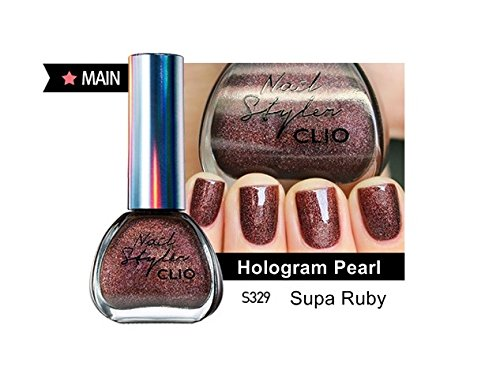 Clio Holiday Collection Nail Stylus Manicure (13ml) Korean Makeup Cosmetics (S329 : Supa Ruby)