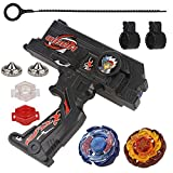 Bey Battling Blades Game Metal Fusion Set Burst Starter Kit Launcher Included, 10 Pieces, Black