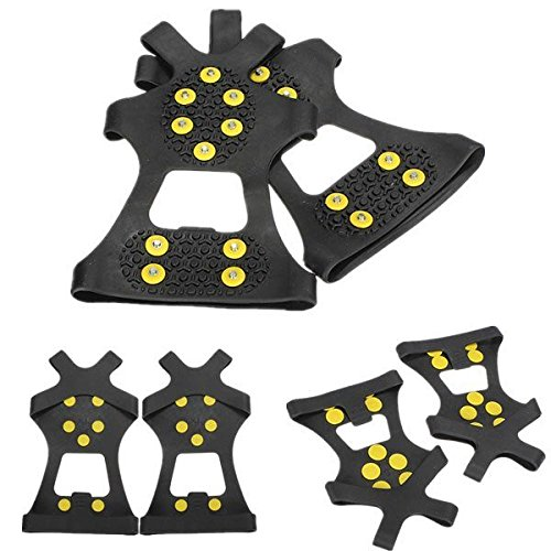 Allure Footwear (Anti skid Shoes Cover Climbing Shoes Crampons ( XL ))