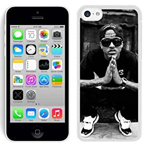 Grace Protactive Iphone 5c Case Design with August Alsina White Cell Phone Case for Iphone 5c