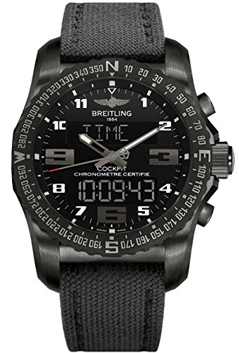 Breitling Cockpit - Breitling Cockpit B50 Mens Watch on Anthracite Canvas Strap VB501022/BD41-100W