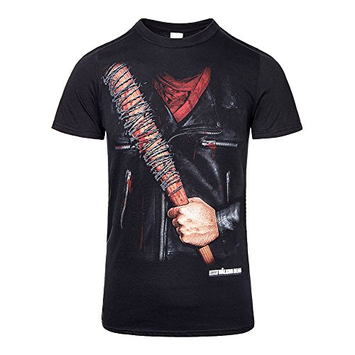 Unisex-adults The Walking Dead Negan Costume T Shirt - Small, (Black)