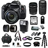 Canon EOS Rebel T6i EF-S 18-135mm IS STM and 75-300mm Lenses +Slave Flash + 32GB Deluxe Kit