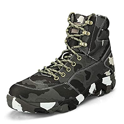 a670f169df4 Image Unavailable. Image not available for. Color  BE DREAMER Men Military  and Tactical Boot Ankle Support Waterproof Mountain Combat ...