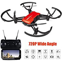 NXDA 1802 720P Wide Angle HD Camera Wifi FPV Drone Altitude Hold RC Mini Quadcopter (Red)