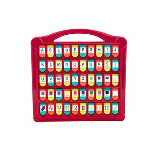 Battat - Hide & Seek Alphabet Pop-Up - 50 Shapes Colors Letters Numbers - Learning Toys for Toddlers - Phthalates & Bpa Free (Renewed)