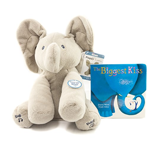 Animated Plush (Gund Baby Animated Flappy The Elephant Plush Toy | Flappy the Elephant stuffed toy with