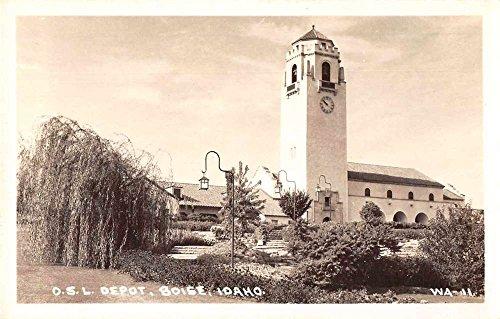 Boise Idaho OSL Train Depot Real Photo Antique Postcard - Boise Idaho Stores
