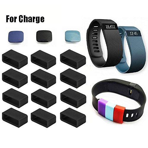 Fitbit Charge Fastener Ring By XXSCY®, 12pcs Silicon Fastener Ring with 3pcs Clasp for Fitbit Charge Wristband - Fix the Clasp Fall Off Problem (Pack of 12)