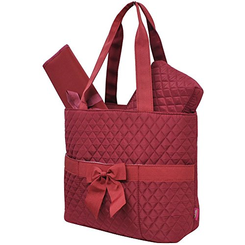 Burgundy NGIL Quilted 3pc Diaper