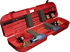 MTM's Ice Fishing Rod Box (IFB-1) holds up to eight rods and has space for your tackle and tip ups. Four compartments hold your other fishing accessories. Box is made of rugged polypropylene and inside there is notched foam padding that secur...