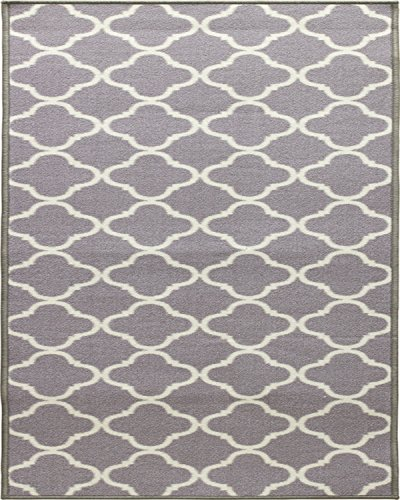 WJ Dennis & Company SHIGR3947 Shitake Decorative Floor Mat, 39″ by 47″, Grey/Gris