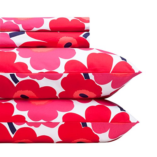 marimekko-red-pieni-unikko-sheet-set-full