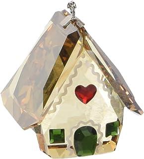 e8e8f23b9 Swarovski Gingerbread House Ornament Amber/Green/Red Crystal