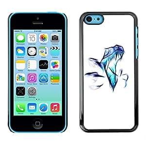 LECELL -- Funda protectora / Cubierta / Piel For Apple iPhone 5C -- Raptor Airbrush --