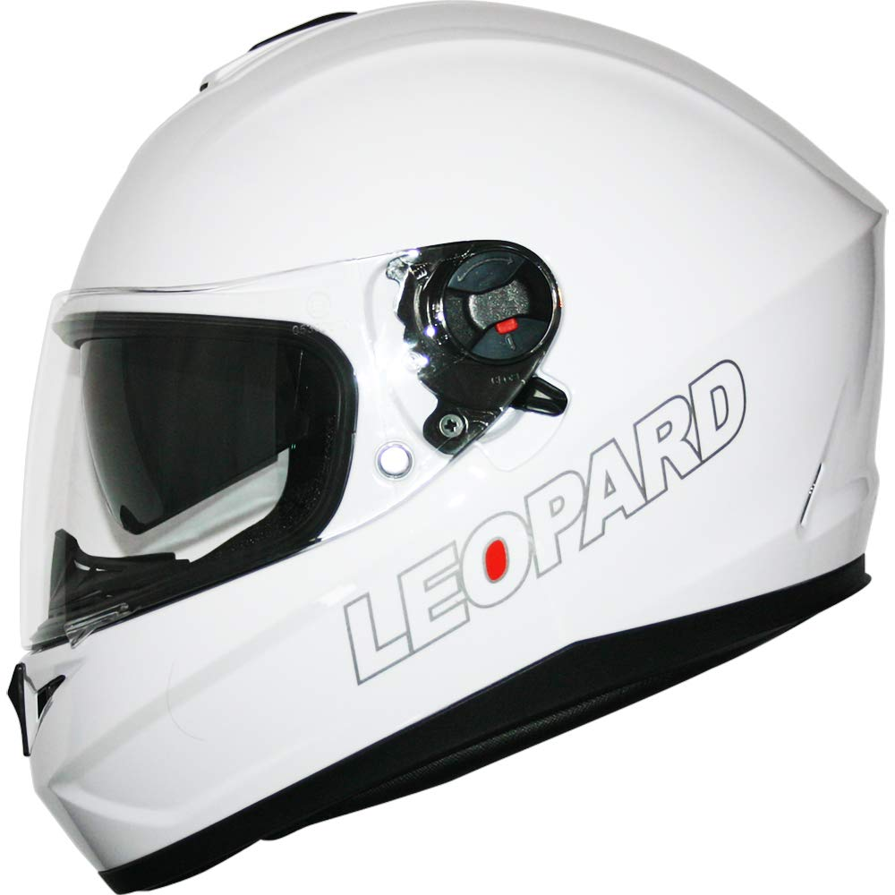 59-60cm Yellow L Leopard LEO-828 Double Visor Full Face Motorbike Helmet - Motorcycle Road Legal