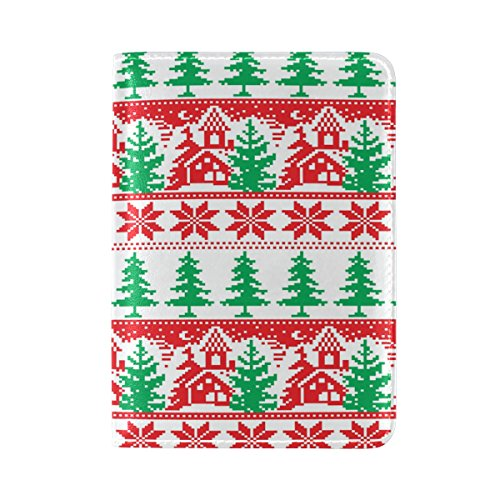 Personalized Unique Christmas Design Passport Covers Travel Holder Case Protector
