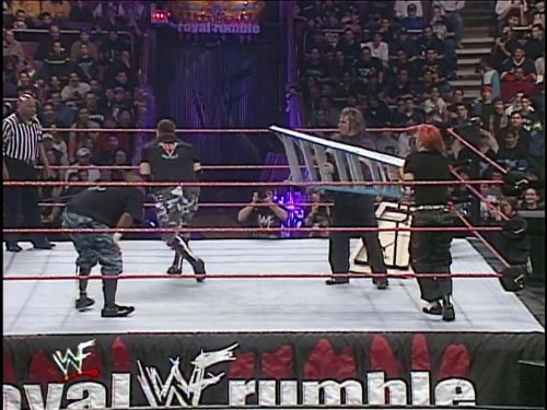 1st Ever Tag Team Tables Match Dudley Boyz Vs. Hardy Boyz Royal Rumble - January 23, 2000
