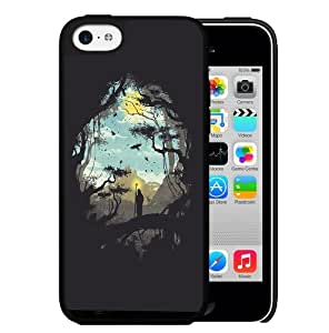 Black Silhouette Hard Snap On cell Phone Case Cover iPhone 5c