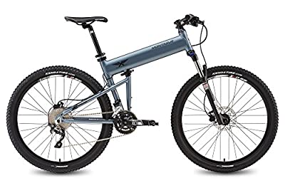 Montague Paratrooper Highline, Matte Grey, 20 Speed Folding Mountain Bike- New Model