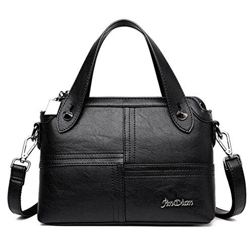NVBAO Borsa a tracolla della borsa a tracolla della borsa di modo delle donne Multi colore dei colori Manuale semplice cucire Grande capacità Shopping Turismo, purple black