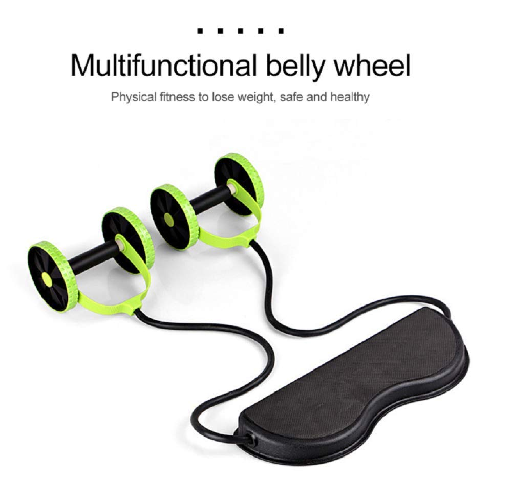 Abdominal Trainers Double Ab Roller Wheel Fitness Abdominal Abs Roller Ab Rollers Fitness Equipment Abdominal Exerciser Trainer Puller Roller Slimming Muscle Trainer Workout Tool Resistance Band