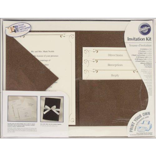 wilton vintage ivy pocket invitation kit - Wedding Invitation Kits