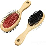 LoveFurPaws Both Sided Hair Brush for Pets (Off-White)