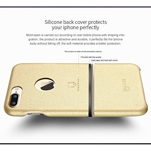 MXNET IPhone 7 Plus Fall, Textur PU + PC Paste Haut Schutzhülle CASE FÜR IPHONE 7 PLUS ( Color : Black )