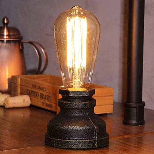 Steampunk lamp parts amazon kiven steampunk table lamp ul certification button switch cord vintage style desk light e26 iron base modern antique table light bulbs not included aloadofball Images