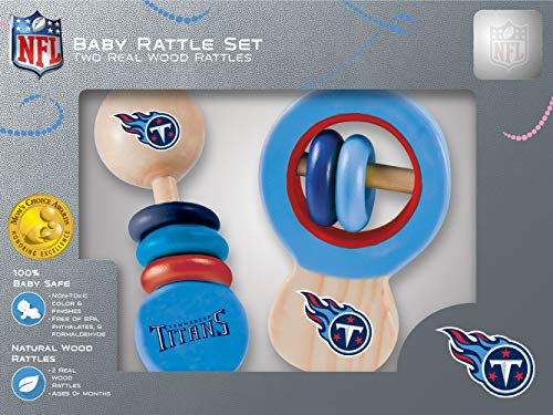MasterPieces Tennessee Titans Wooden Baby Rattle - Rug Titans Tennessee Nfl