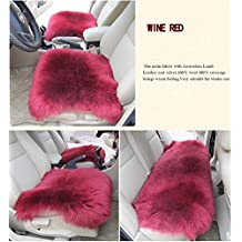 Universal Full Set Deluxe sheep of the skin of the car seat cover wool chair pad