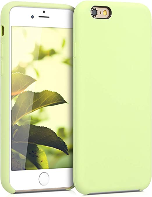 kwmobile TPU Silicone Case Compatible with Apple iPhone 6 / 6S - Case Slim Protective Phone Cover with Soft Finish - Pistachio Green