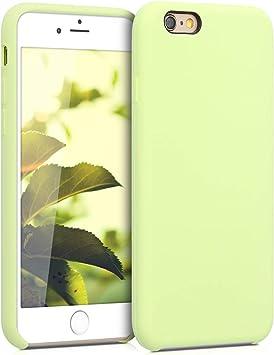 kwmobile Coque pour Apple iPhone 6 / 6S - Coque Étui Silicone - Housse de téléphone Vert Pastel